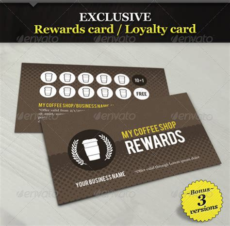 Loyalty Card Template Psd new categories on graphicriver