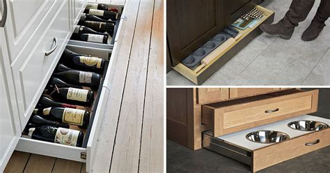 toe kick drawer kitchen design idea include toe kick drawers in your