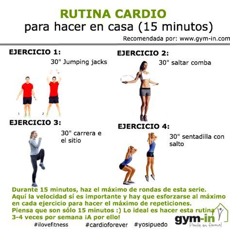rutina de gimnasio en casa rutina cardio para hacer en casa 15 minutos in