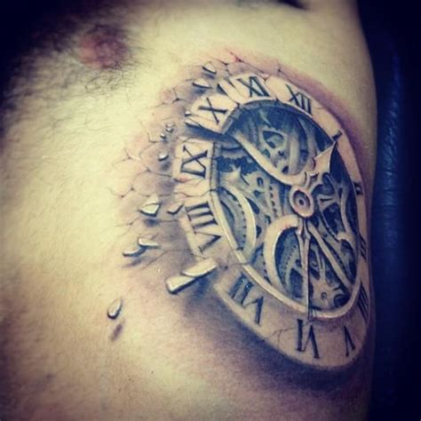 awesome clock tattoo jpg 612 215 612 tattoos pinterest