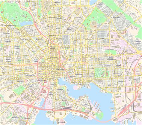 map of baltimore usa scalablemaps vector maps of baltimore pdf ai