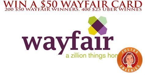 Wayfair Gift Card Code - win a 50 wayfair gift card julie s freebies