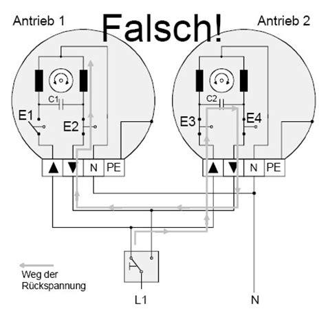 jalousie schaltplan gira faq rohrmotoren parallelschaltung motoren