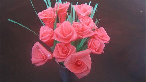 straw rose tutorial ribbon rose method youtube