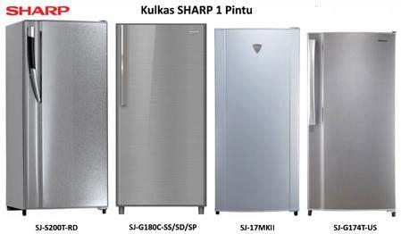 Kulkas Sharp 2 Pintu Beserta Gambarnya daftar harga kulkas 1 pintu terbaru februari 2018 daftar