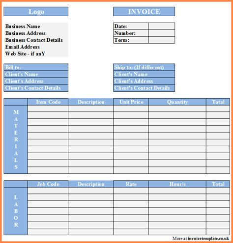 Project Financial Plan Template