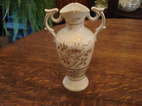 vintage norcrest anniversary vase 50th ab 198 ebay
