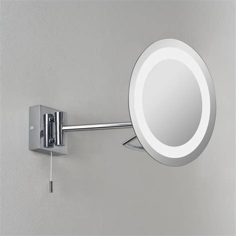 illuminated magnifying mirrors for bathrooms astro lighting 0488 gena illuminated ip44 bathroom