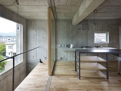 interior concrete walls industrial chic concrete house with interior courtyard