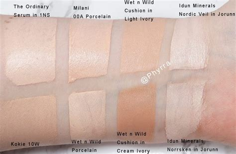 Harga Loreal Blush Cushion n hits and misses swatches on pale skin