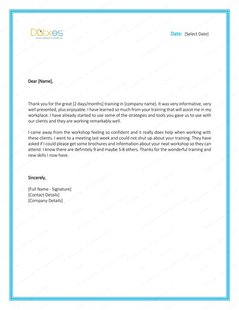 appreciation letter for trainer letter appreciation after best free home