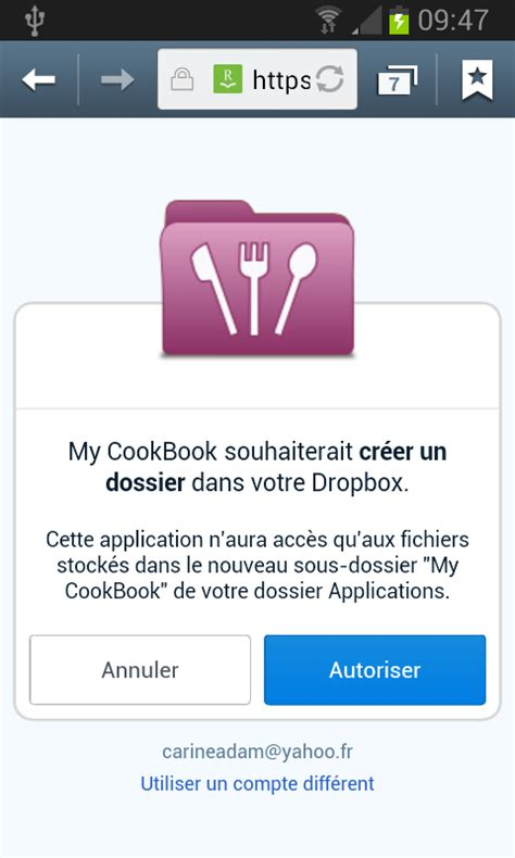 site login android login my cookbook