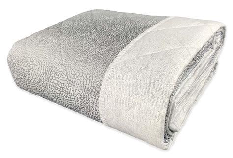 copriletto grigio copriletto trapuntato in puro cotone e poliestere