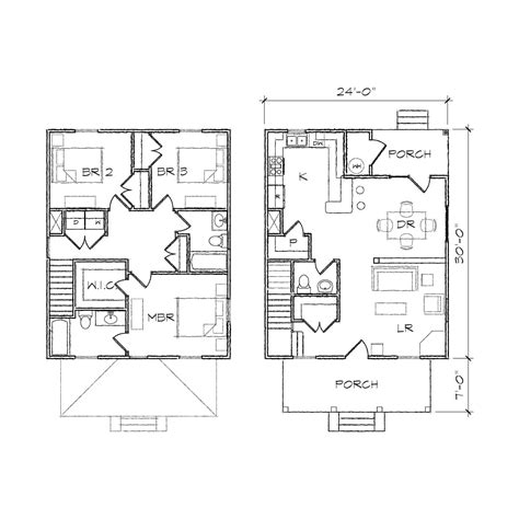 square house plans four square ii prairie floor plan tightlines designs