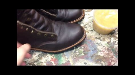 taking care of leather boots using montana pitch blend