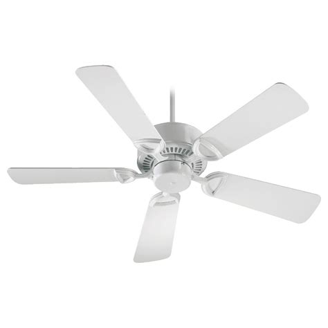 white ceiling fan without light quorum lighting estate white ceiling fan without light
