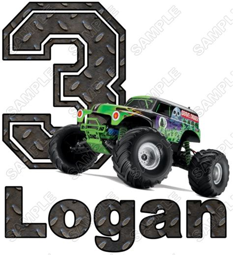 grave digger monster truck fabric grave digger monster truck birthday personalized custom t