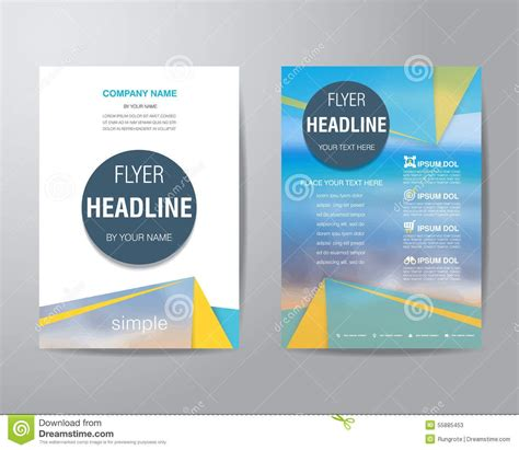 Simple Brochure Design Templates Theveliger Free Simple Brochure Templates