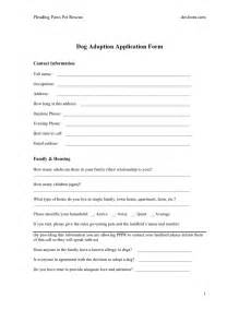 pet adoption application template adoption application form in word and pdf formats