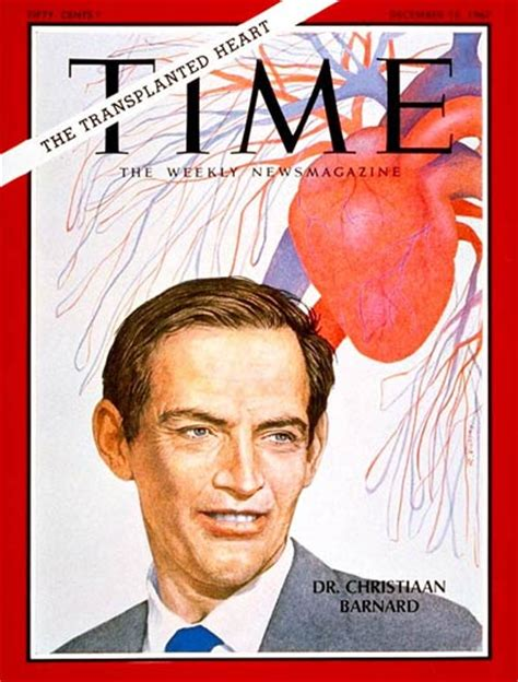 christiaan barnard the surgeon who dared books time magazine cover dr christiaan barnard dec 15
