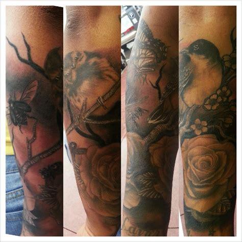 nature quarter sleeve tattoo nature half sleeve by remvik on deviantart