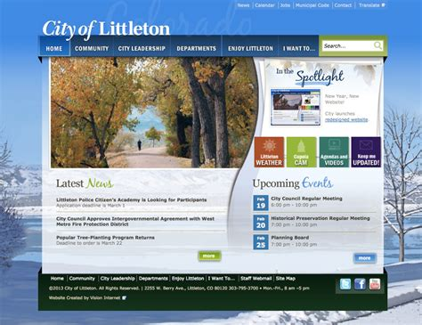 new year new website for the city of littleton co