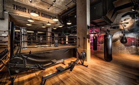 bergman interiors packs  punch  boutique boxing gym