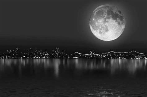 imagenes blanco y negro para fondo de pantalla fondo escritorio luna y mar blanco y negro