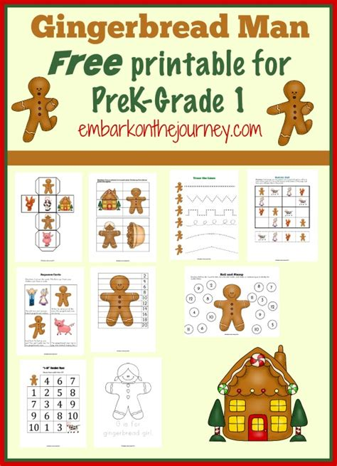preschool gingerbread man printable book free gingerbread man printable for prek 1st grade free