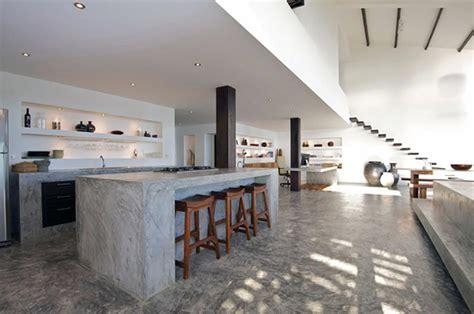 beton cuisine ilot central en b 233 ton ou l accent industriel dans notre