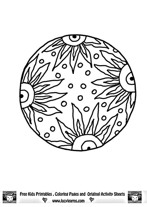 sun mandala coloring pages mandala color pages coloring home
