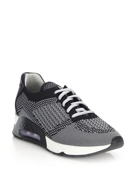 knit sneakers ash lucky knit sneakers in gray lyst