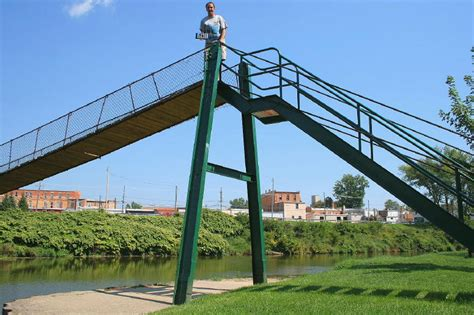 croswell swinging bridge bridgemeister croswell swinging bridge