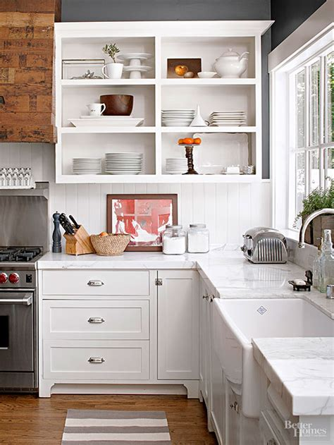 10 sparkling kitchens with open shelving how to convert kitchen cabinets to open shelving