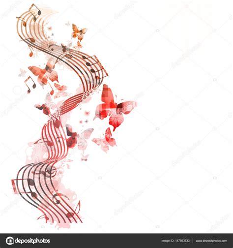imagenes de vectores ligados colores de fondo con notas musicales vector de stock