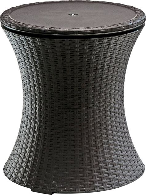 cool patio tables keter rattan cool bar outdoor patio cooler table patio table