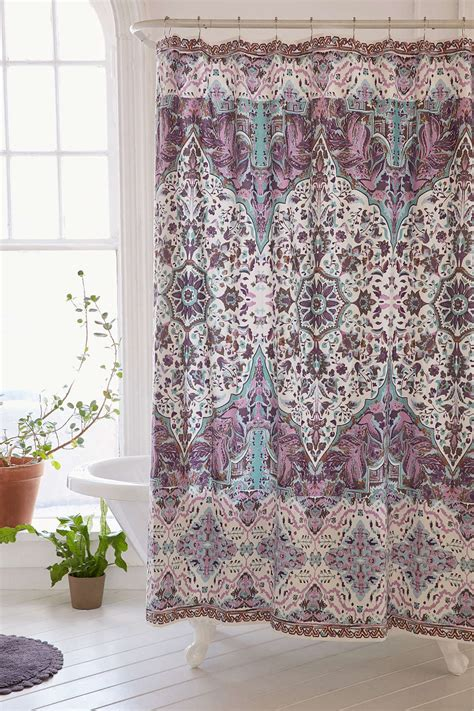 Purple Shower Curtain by Purple Florin Shower Curtain Decor By Color