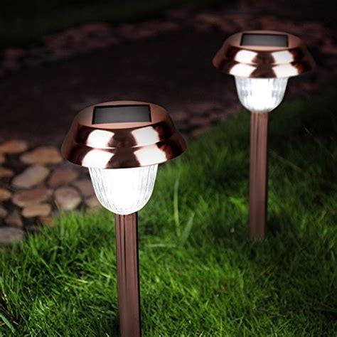 copper solar lights garden ohuhu stainless steel solar garden lights path lights