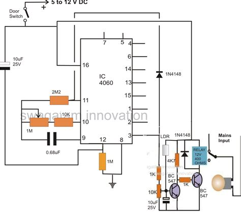 automatic light on off circuit automatic door l timer circuit