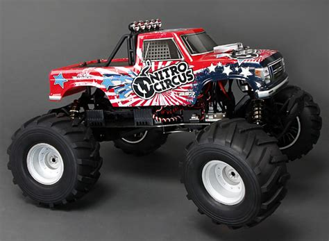nitro circus rc truck basher nitro circus 1 8 scale 4wd truck w 2 4ghz