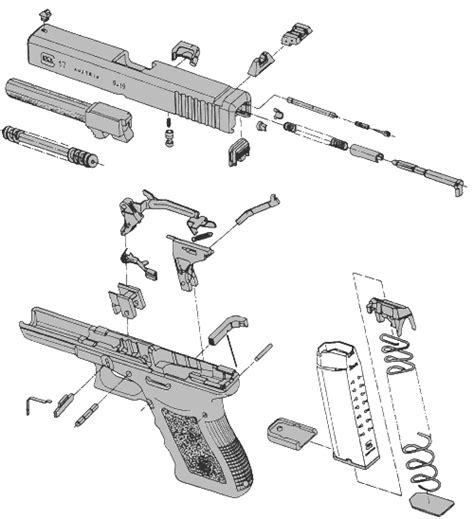glock parts diagram glock family of handguns just for guns specifications