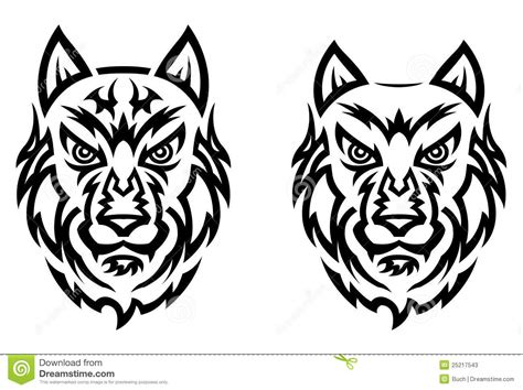 tribal wolf tattoo stock photos image 25217543