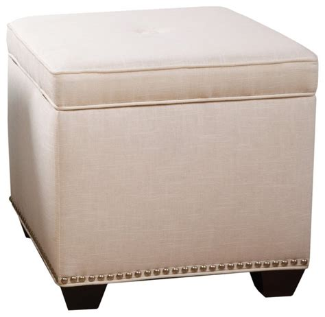 off white ottoman sandy wilson cashmir storage cube off white
