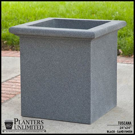 Commercial Fiberglass Planters by Tuscana Fiberglass Commercial Planter 24in L X 24in W X 24in H