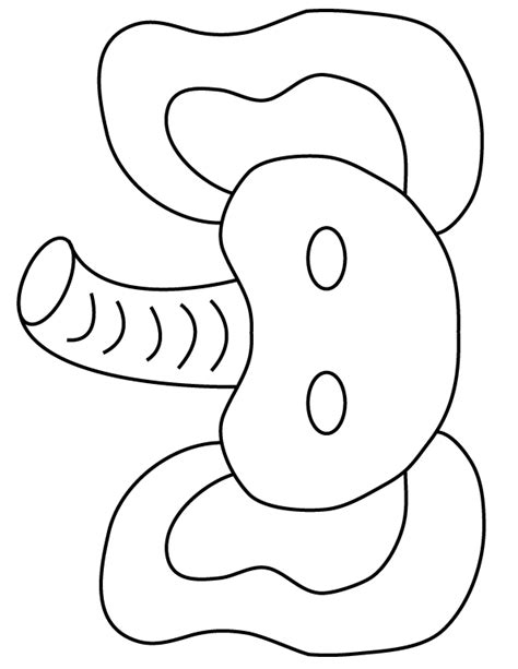 Elephant Mask Coloring Pages | elephant mask printable crafts pinterest pictures of