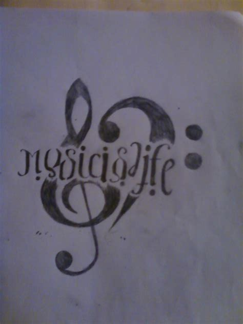 music is life tattoo designs is ideas www imgkid the image