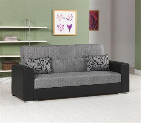 divano con cassettone divano letto 3 posti colore grigio con ecopelle