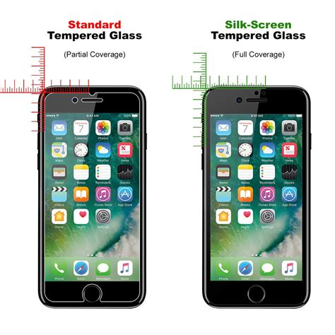 black tempered glass screen protector apple iphone 8 plus