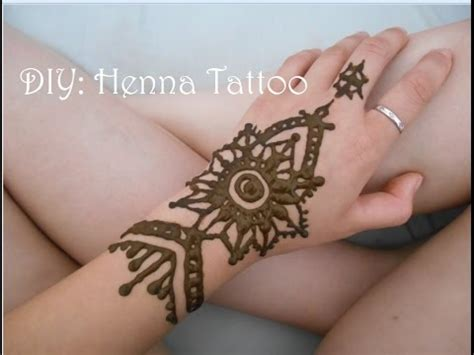 diy henna tattoo for beginners youtube