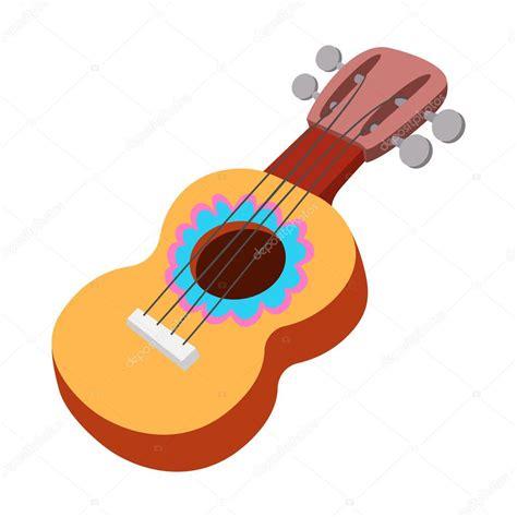 imagenes de guitarra sin fondo icono de la guitarra ac 250 stica estilo de dibujos animados